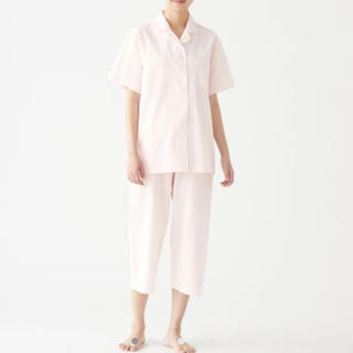 MUJI (無印良品) - 脇に縫い目のない サッカー織り 半袖パジャマ・婦人M