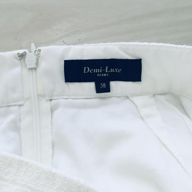 Demi-Luxe BEAMS(デミルクスビームス)のbeams 白レース タイトスカート ペンシルスカート レディースのスカート(ひざ丈スカート)の商品写真