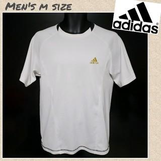 アディダス(adidas)の☆adidas☆ドライメッシュTシャツ パフォーマンスロゴ刺繍 メンズMサイズ(Tシャツ/カットソー(半袖/袖なし))