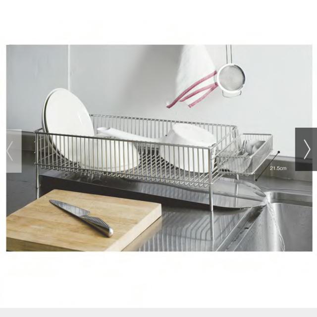 ラバーゼ la base ニュー水切りかご スリム横置タイプ インテリア/住まい/日用品のキッチン/食器(収納/キッチン雑貨)の商品写真