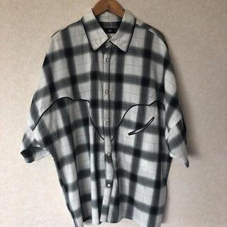 HARE - HARE レーヨン混オーバーサイズシャツ
