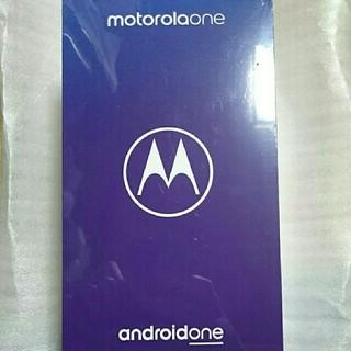 アンドロイド(ANDROID)の【新品 未開封】Motorola one SIMフリー(スマートフォン本体)