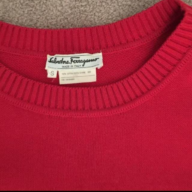 Salvatore Ferragamo(サルヴァトーレフェラガモ)のフェラガモ ワンピース レッド 赤 エレガント レディースのワンピース(ひざ丈ワンピース)の商品写真
