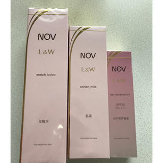 ノブ(NOV)のNOV ノブ L&W エルアンドダブル 化粧水 乳液 美容液(化粧水 / ローション)