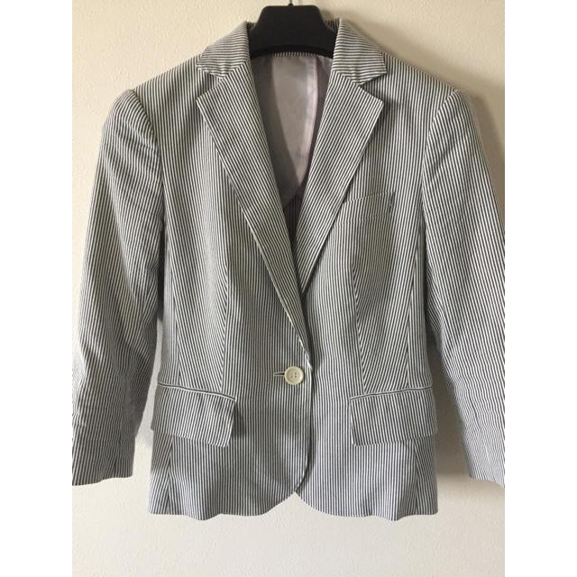 SELECT(セレクト)のsuitsselect ストライプジャケット 自宅洗濯可能 スーツセレクト レディースのフォーマル/ドレス(スーツ)の商品写真