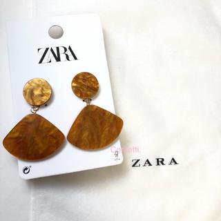 ZARA - ZARA マーブル加工ピアス ザラ ピアス 大ぶり 新品未使用