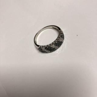 18KWG 1ct ブラックダイヤモンドパヴェリング(リング(指輪))
