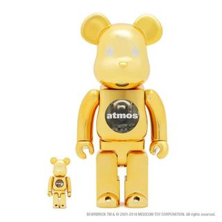 MEDICOM TOY - 100% & 400% atmos BE@RBRICK Gold Chrome