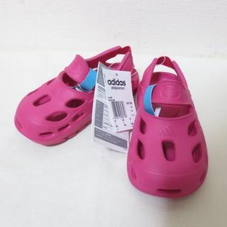 アディダス(adidas)の新品 アディダス ピンク キッズ サンダル 16cm K399(サンダル)