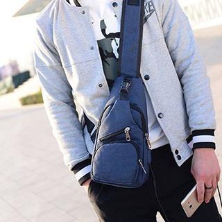 メンズ ショルダーバッグ 軽い 使いやすい ブルー 防水加工 新品(ショルダーバッグ)