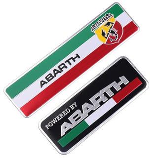 【新品】ABARTH アバルトロゴ 3Dアルミエンブレムステッカー 2種セット