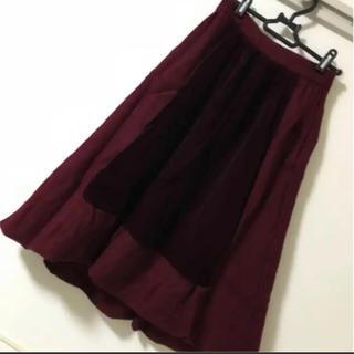 ジェーンマープル(JaneMarple)のジェーンマープル ボルドー ベロア切り替えスカート(ひざ丈スカート)