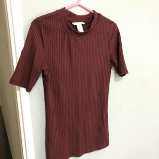 エイチアンドエム(H&M)のボルドー♡タイトめトップス(カットソー(長袖/七分))