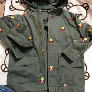 ヒステリックミニ(HYSTERIC MINI)の刺繍コート 100(コート)
