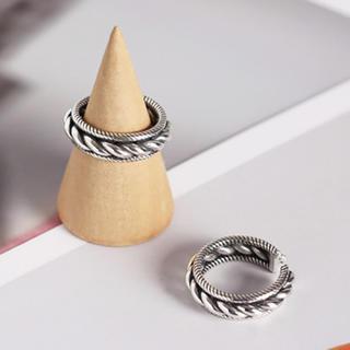 トゥデイフル(TODAYFUL)の人気♡ シルバー925 デザインリング 指輪(リング(指輪))