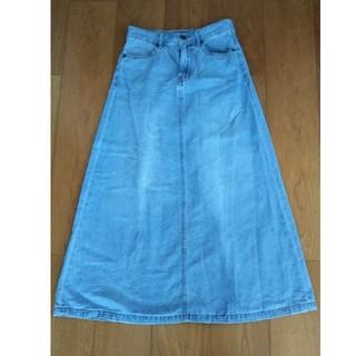 GU - デニムロングスカート