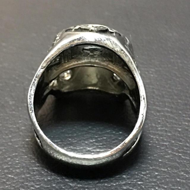 フリーメイソン スカル ヴィンテージリング メンズのアクセサリー(リング(指輪))の商品写真
