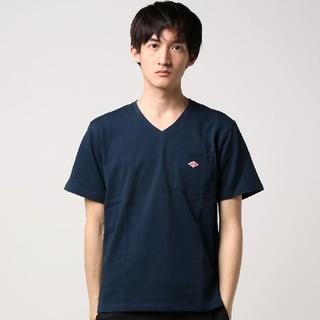 DANTON - 新品 タグ付き ダントン Vネック Tシャツ ネイビー サイズ42