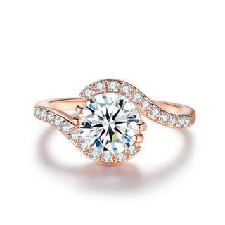 AAAランク ダイヤモンドcz 18号 リング 指輪(リング(指輪))