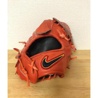 NIKE - ナイキ 硬式 投手用グローブ 赤オレンジ