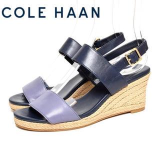 コールハーン(Cole Haan)のコールハーン サンダル エスパドリーユ ネイビー ブルー 5B 22.5cm(サンダル)