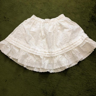 ラルフローレン(Ralph Lauren)の白フリルスカート 100(スカート)