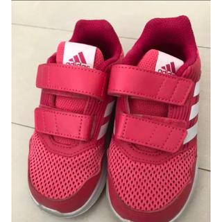 adidas - adidas キッズスニーカー ピンク 15cm