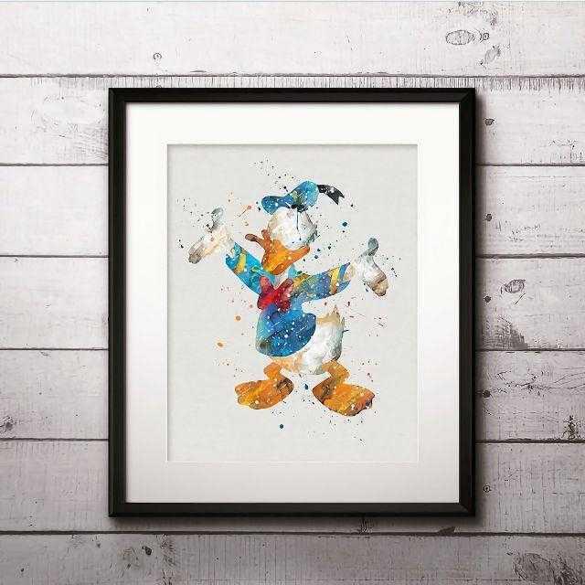 Disney(ディズニー)の日本未発売!ドナルドダック3・アートポスター【額縁つき・送料無料!】 エンタメ/ホビーのアニメグッズ(ポスター)の商品写真