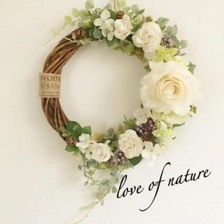 【再々再販】ローズ×紫陽花のナチュラルリース*・゜゜・*:.。..。.:*・(リース)
