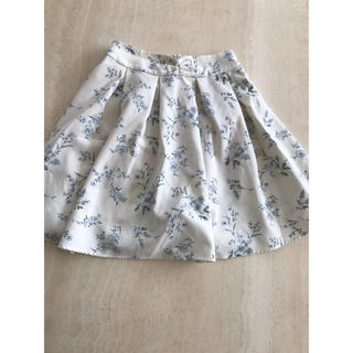 花柄 フレア キュロットスカート