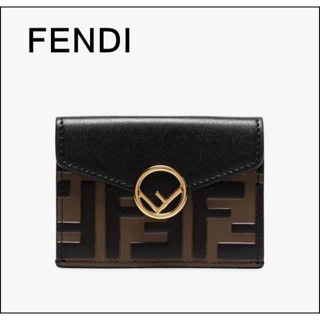 3ca736158962 FENDI(フェンディ)のFENDI フェンディ FF Micro 三つ折り 財布 Black メンズのファッション