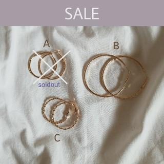 トゥデイフル(TODAYFUL)の【 sale 】gold hoop earrings *(ピアス)