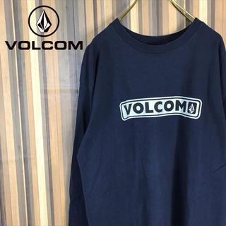 volcom - 美品 VOLCOM ボルコム ロンT ロングスリーブシャツ ビッグロゴ ネイビー