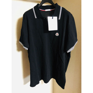 MONCLER - 新品 タグ付き MONCLER 半袖 ポロシャツ メンズ  ブラック XL