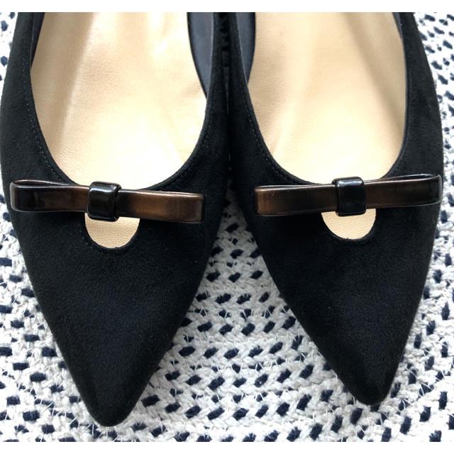 Odette e Odile(オデットエオディール)のOdette e Odile  フラット リボン シューズ ブラック 24 レディースの靴/シューズ(その他)の商品写真