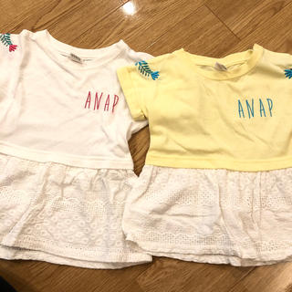 アナップキッズ(ANAP Kids)のANAPkidsお揃いTシャツセット(Tシャツ/カットソー)