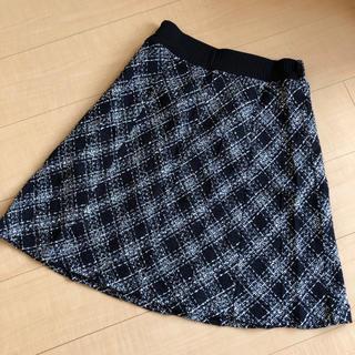 シマムラ(しまむら)のしまむら ☆ チェックスカート ☆ ブラック×ホワイト(ひざ丈スカート)