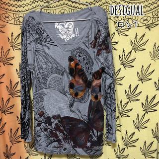 デシグアル(DESIGUAL)の90  desigual M ロンT ライトグレー(Tシャツ(長袖/七分))