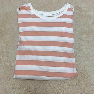 ムジルシリョウヒン(MUJI (無印良品))の無印良品 ピンクボーダー(Tシャツ(長袖/七分))