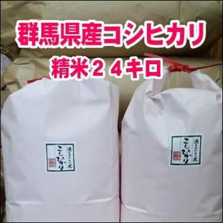 お試しセール!群馬県みなかみ産 コシヒカリ  24 ㎏