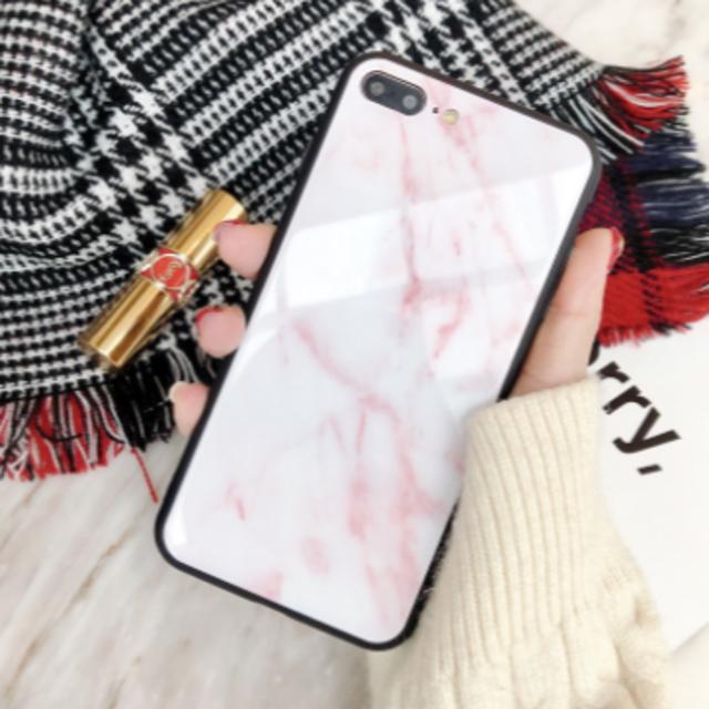 ピンク マーブル 大理石風 アイフォン スマホケース スマホカバーの通販 by nk.shop|ラクマ