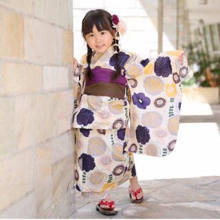 【新品】【帯・下駄付き】花柄☆子ども 浴衣