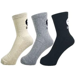 アルファ(alpha)のアルファメンズソックス靴下「バックスボス柄」3PACK 1037 新品(ソックス)