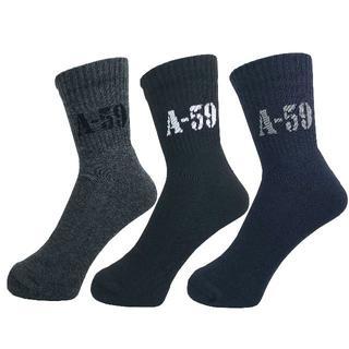 アルファ(alpha)のアルファメンズソックス靴下「A-59パイル」3PACK 1038 新品(ソックス)