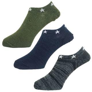 アルファ(alpha)のアルファメンズソックス靴下「トップ星柄」3PACK 1051 新品(ソックス)