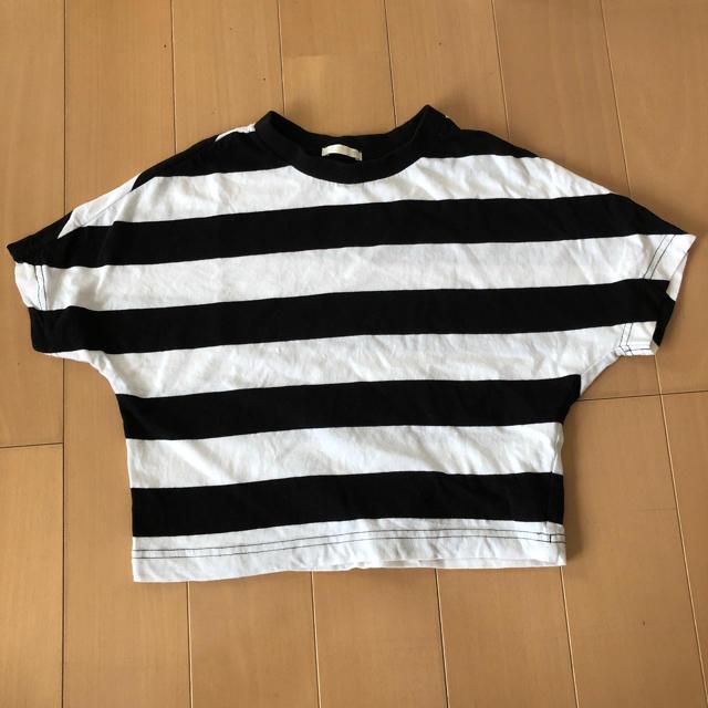 GU(ジーユー)のGU カットソー 120 ボーダー キッズ/ベビー/マタニティのキッズ服 男の子用(90cm~)(Tシャツ/カットソー)の商品写真