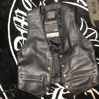 ハーレーダビッドソン(Harley Davidson)のカドヤ  kadoya    レザーベスト(ライダースジャケット)