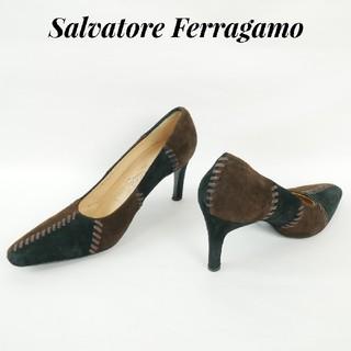 サルヴァトーレフェラガモ(Salvatore Ferragamo)のSalvatore Ferragamo  フェラガモ 6C スウェード パンプス(ハイヒール/パンプス)
