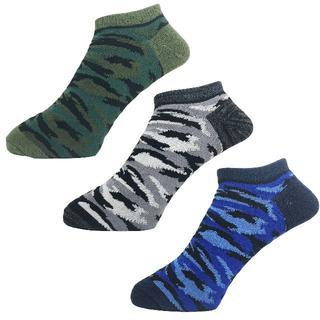 アルファ(alpha)のアルファメンズソックス靴下「カモフラ」3PACK 1057 新品(ソックス)