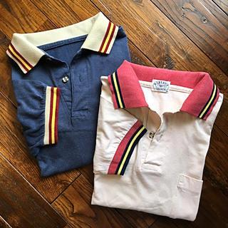ズーム(Zoom)のまとめて2枚売り!メンズ レディース 半袖 ポロシャツ ネイビー ピンク M/L(ポロシャツ)